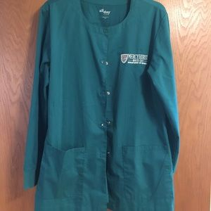 Nursing school uniform scrub jacket